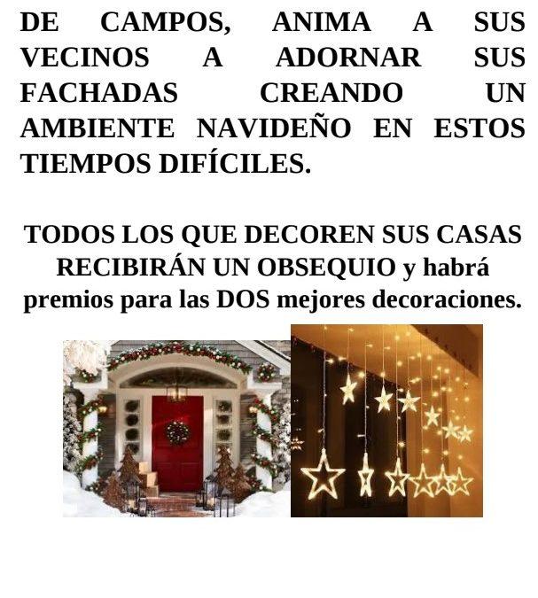 Concurso de decoración navideña en Marcilla de Campos